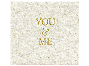 MBI You & Me 12x12 Embroidered Linen Scrapbook