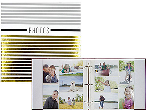 MBI Silver & Gold 3-Ring 4x6 Bi-Directional Photo Album