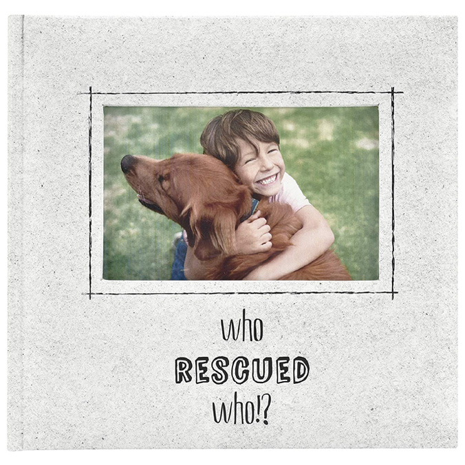 Mbi Who Rescued Who 4x6 Pet Photo Album