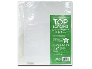 MBI 9x12 Scrapbook Refill Pages (6 Pack)