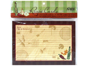 MBI Family Recipe Cards 5x7 (25)