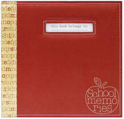 Mbi 12x12 Red Apple School Memories Scrapbook