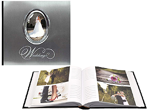 MBI Silver Metal Wedding Photo Album For 4x6