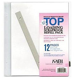 MBI 8-1/2x11 Scrapbook Refill Pages White (6 Pack)