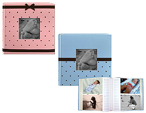 Pioneer DA-200BEM Embroidered Fabric 4x6 Baby Photo Album