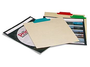 Print File CD Tabbed Dividers (12 Pack)