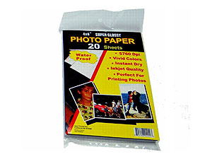 Premium Glossy 4x6 InkJet Photo Paper (400 Sheets)