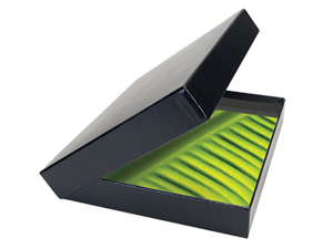 Get Smart Buckram Clamshell Portfolio Box 8.5x11x1 Black Int