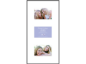 MCS 10x20 Format Museum Frame w/Mat For Three 4x6 Photos