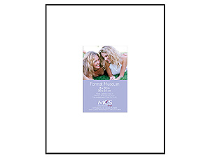 MCS 8x10 Format Museum Frame w/Mat For 3-1/2x5 Photo