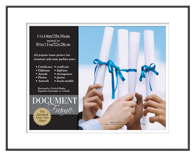 Mcs Format Shadow Mat Document Frame 11x14 For 8 5x11