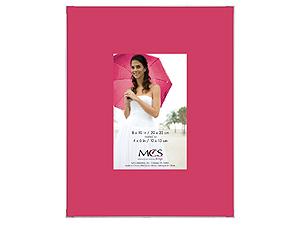 MCS 8x10 Format Silkscreen Colors Frame w/4x6 Mat Opening
