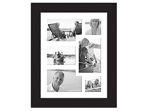 MCS 11x14 Aventura Collage Frame w/6 Mat Openings