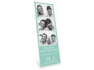 MCS Bent Acrylic Photo Booth Frame Vertical 2x6