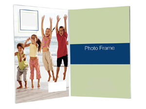 Bent Acrylic Frame 3-1/2x5 Double Vertical