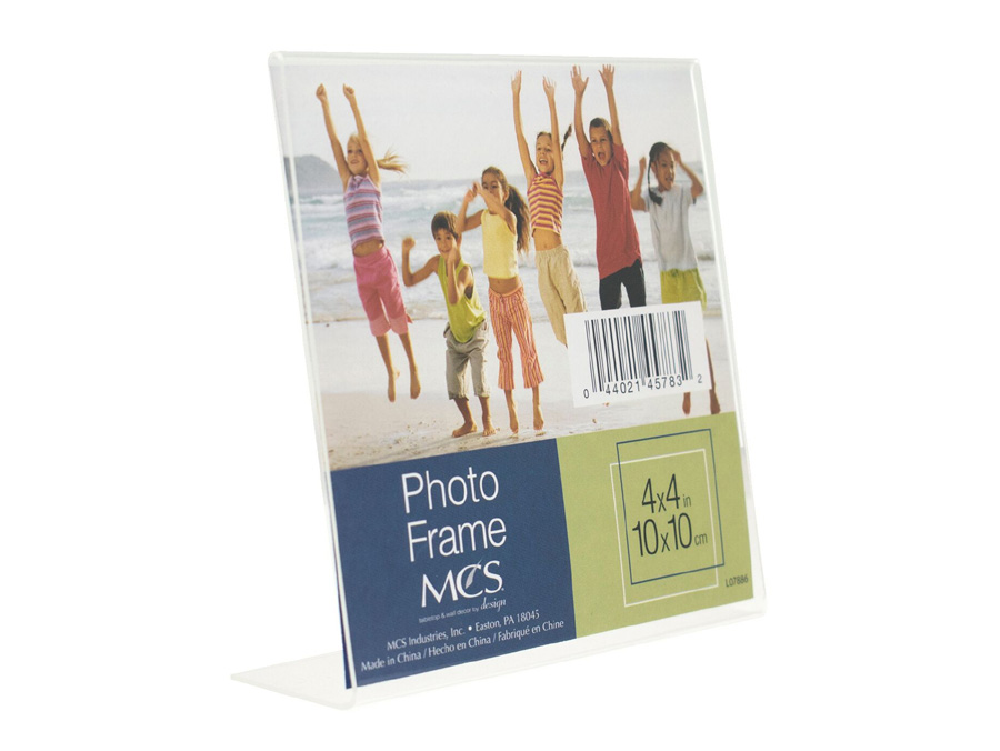 Bent Acrylic Picture Frame 4x4