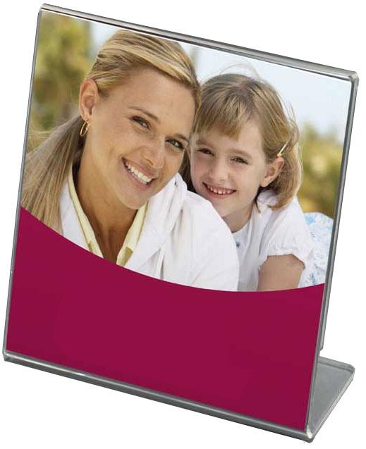 Bent Acrylic Frame 5x5 Single Vertical