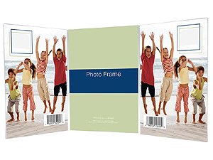 Bent Acrylic Picture Frames - Triple Vertical