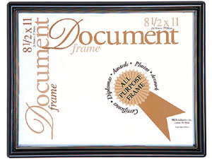 MCS Contour Document Frame For 8-1/2x11