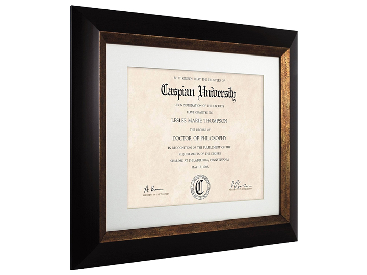 Mcs Fairmont 11x14 Diploma Frame Matted For 85x11 Espresso