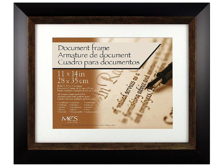 Mcs 11x14 Espresso Fairmont Diploma Frame For 8 5x11