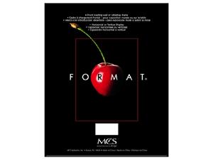 mcs format frame 8x12 black