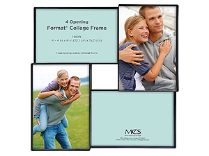 MCS Format Collage Frame With 4-4x6 Openings