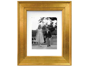 MCS Gold Portrait 8x10 Picture Frame Matted For 5x7