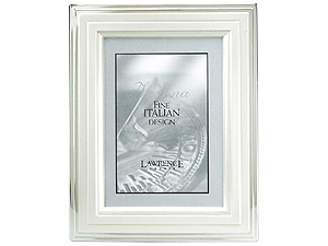 Lawrence Verona Brushed Silver Step Picture Frame 4x6
