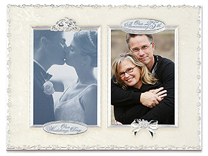 Lawrence 4x6 25th Anniversary 2 Photo Collage Frame