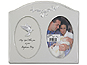 Lawrence 4x6 Silver Metal Baptism Day Picture Frame