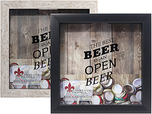 Lawrence 10x10 Beer Cap Holder Shadow Box Frame
