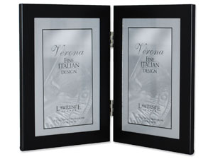 Lawrence Black Hinged Metal Double Frame For 4x6