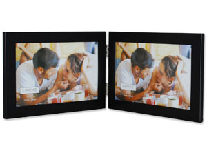 Lawrence Black Hinged Metal Double Frame For 6x4