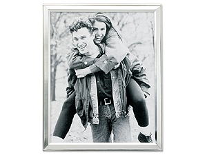 Lawrence 8x10 Brushed Silver Plated Picture Frame