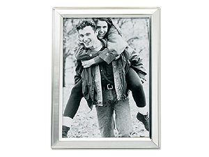 Lawrence 3.5x5 Brushed Silver Plated Picture Frame