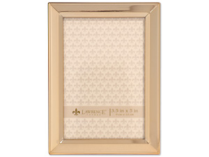 Lawrence 3x5 Classic Bevel Gold Metal Picture Frame