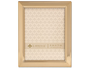 Lawrence 4x5 Classic Bevel Gold Metal Picture Frame
