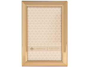 Lawrence 4x6 Classic Bevel Gold Metal Picture Frame