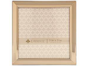 Lawrence 5x5 Classic Bevel Gold Metal Picture Frame