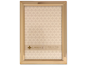 Lawrence 5x7 Classic Bevel Gold Metal Picture Frame