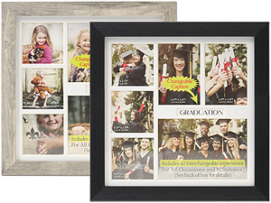 Lawrence 6 Photo Changeable Caption Collage Frame
