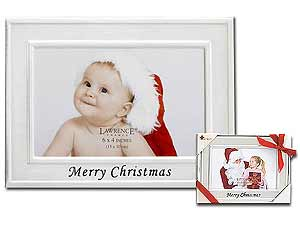Lawrence Merry Christmas Silver Metal Frame 4x6