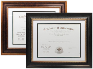 Lawrence 11x14 Dual Use Beaded Document Frame For 8.5x11