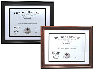 Lawrence 11x14 Bevel Mat Certificate Frame For 8.5x11