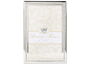 Lawrence 4x6 Dazzle Silver & Glitter Metal Frame