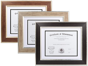 Lawrence 11x14 Dual Use Wood Certificate Frame For 8.5x11