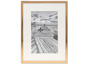 Lawrence Elegant Gold Metal Frame Matted For 4x6 Photo