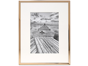 Lawrence Elegant Gold Metal Frame Matted For 5x7 Photo