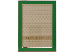 Lawrence 5x7 Emerald Green & Gold Picture Frame